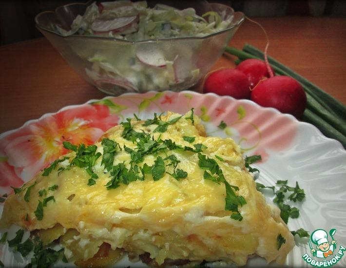 Рецепт: Картофель под ароматным соусом