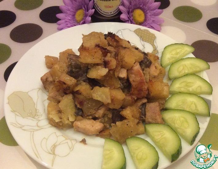 Рецепт: Ароматное жаркое с мясом и грибами