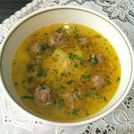Суп с фрикадельками и лапшой Паутинка