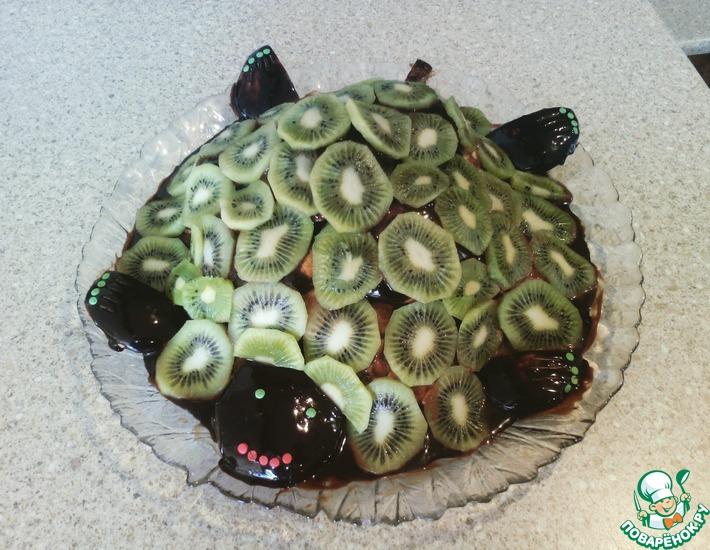 Рецепт: Торт Изумрудная Черепаха