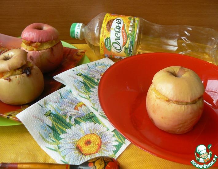 Рецепт: Фаршированные яблоки на завтрак