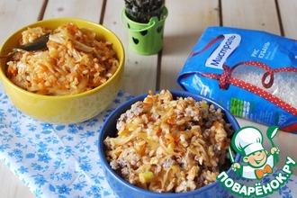 Рецепт: Тушёная капуста по-белорусски