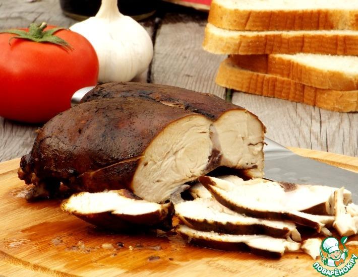 Рецепт: Куриная грудка горячего копчения