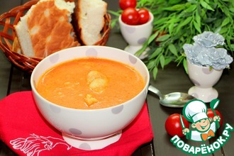 Рецепт: Томатный рыбный суп-крем