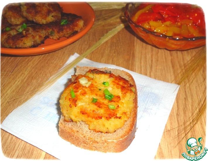 Рецепт: Картофельно-чечевичные лепешки Деревенские