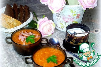 Рецепт: Суп рисово-фасолевый
