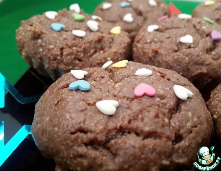 Рецепт: Творожно-шоколадные кексы
