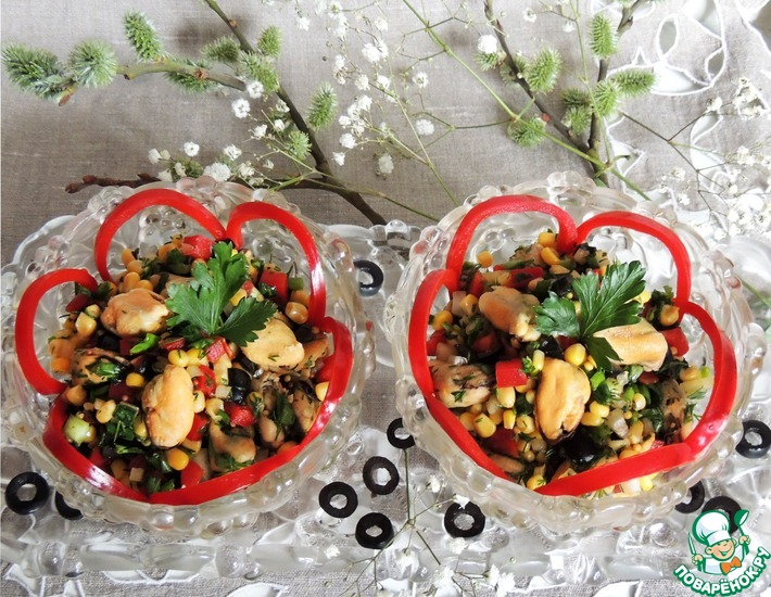 Рецепт: Салат Весенний фейерверк