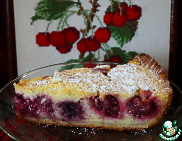 Рецепт: Творожно-ягодный тарт