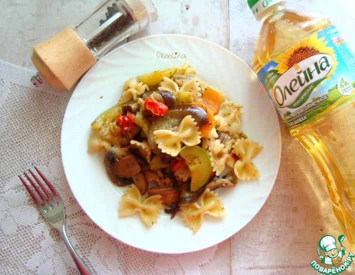 Рецепт: Овощи с макаронами