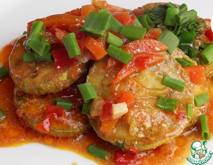 Рецепт: Кабачки в томатной подливе