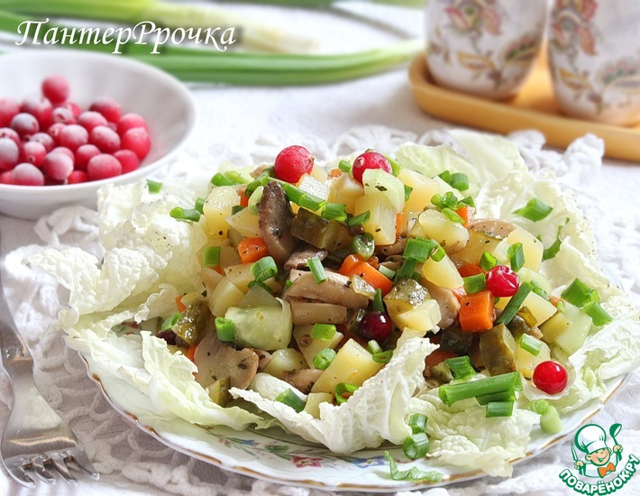 Рецепт: Салат Барыня-сударыня