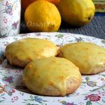Лимонные сконы с миндалем в апельсиновой глазури