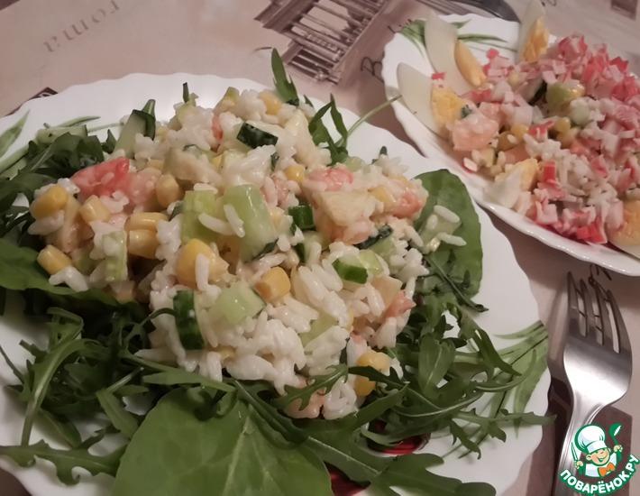 Рецепт: Супер-легкий и свежий салат с креветками