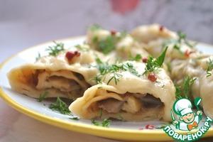 Meatless mushroom rolls