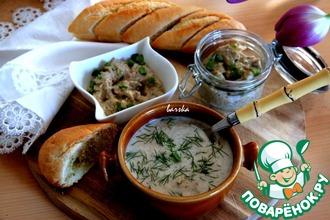 Рецепт: Рисово-грибной паштет и суп