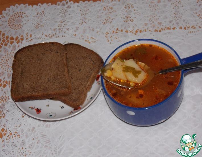 Рецепт: Постный горохово-томатный суп