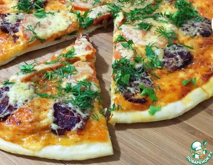 Рецепт: Пицца с маханом и помидорами