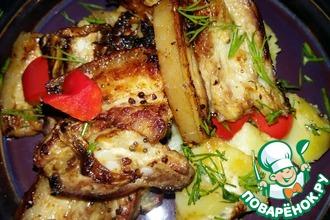 Рецепт: Жаркое с маринованной свининой