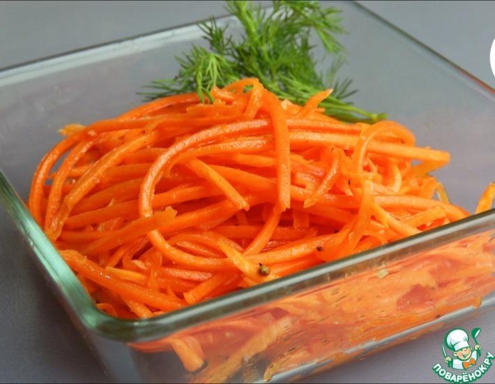 Рецепт: Морковь по-корейски за пять минут