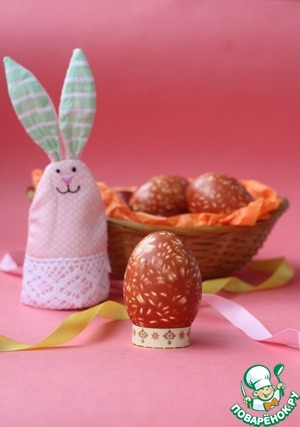 Easter eggs with rice pattern