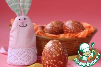 Рецепт: Пасхальные яйца с рисовым рисунком
