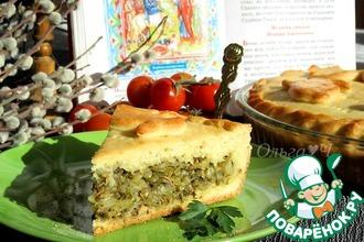 Рецепт: Пирог с капустой, шпинатом и тунцом