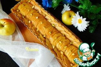 Рецепт: Тарт яблочный с марципаном