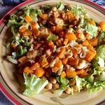 Салат из нута и тыквы