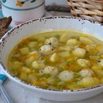 Суп с индюшиными фрикадельками Весенний