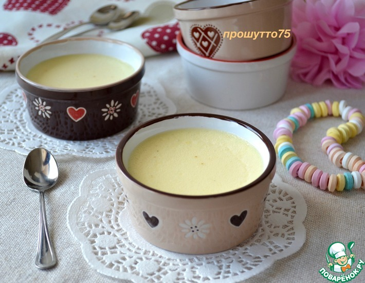 Рецепт: Молочный десерт Нежность