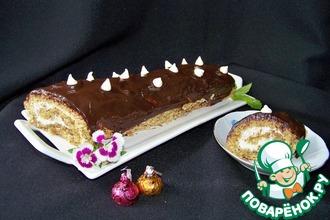 Рецепт: Миндально-шоколадное пирожное