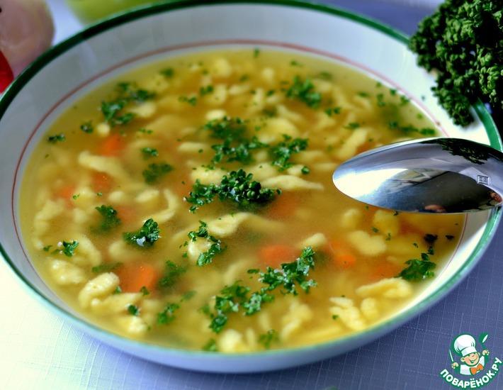 суп на мясном бульоне рецепт с фото
