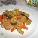 Стир-фрай из овощей с грибами