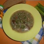 Гречневый суп с грибами и зелёными клецками