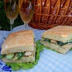 Сэндвич из чиабатты с курицей