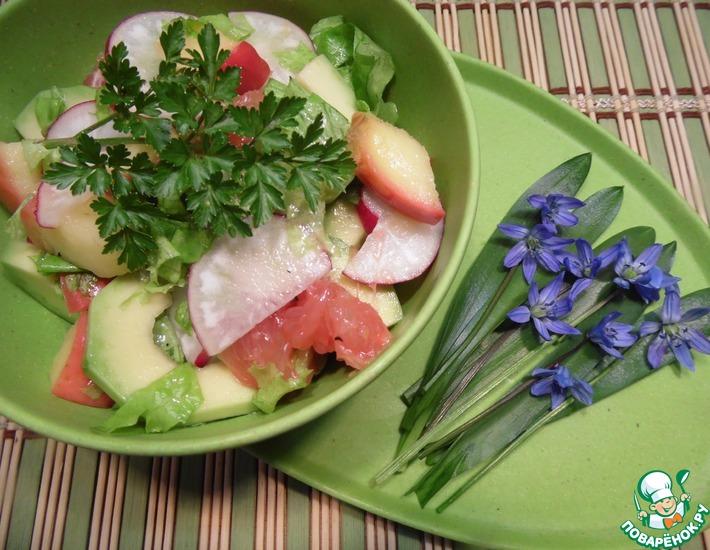 Рецепт: Салат Фруктово-овощная гармония