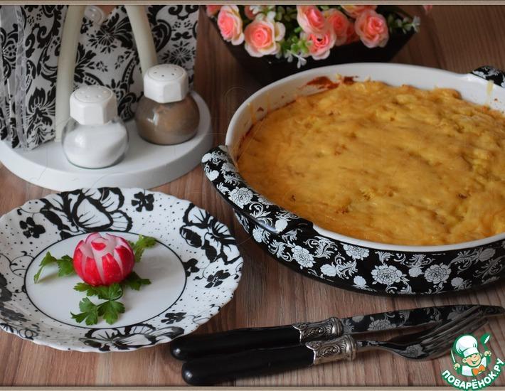 Рецепт: Картофельная запеканка Розовый фламинго
