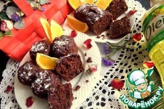 Рецепт: Шоколадные маффины с апельсином