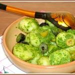 Теплый картофельный салат Изумрудный