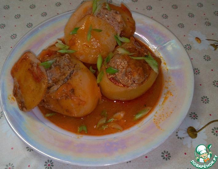 Рецепт: Картофель, начиненный мясом