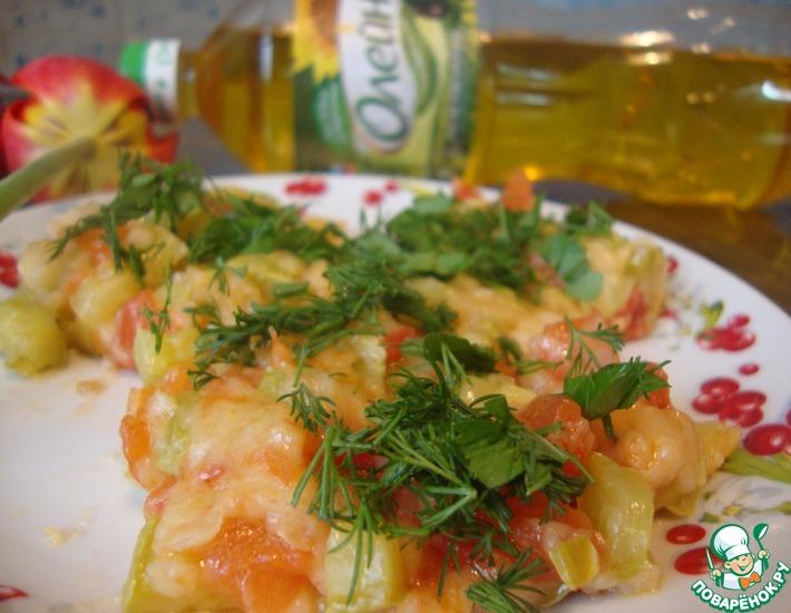 Рецепт: Овощной омлет без яиц