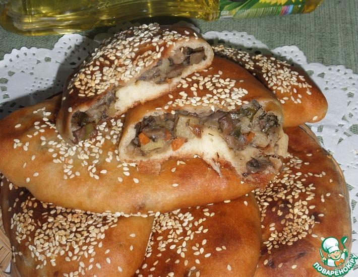 Рецепт: Пирожки постные с картофелем и грибами