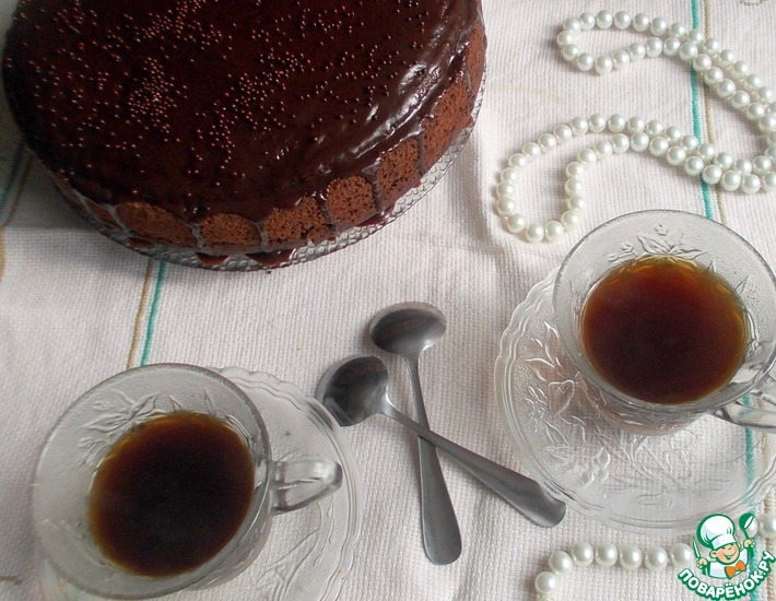 Рецепт: Торт Пьяная вишня