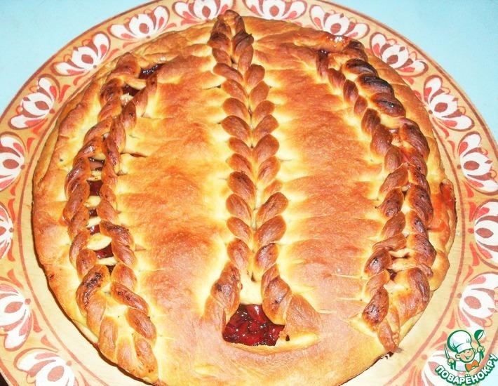 Рецепт: Пирог Вишня в желе