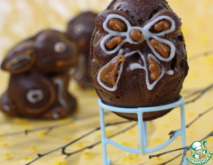 Рецепт: Шоколадные кексы на Пасху