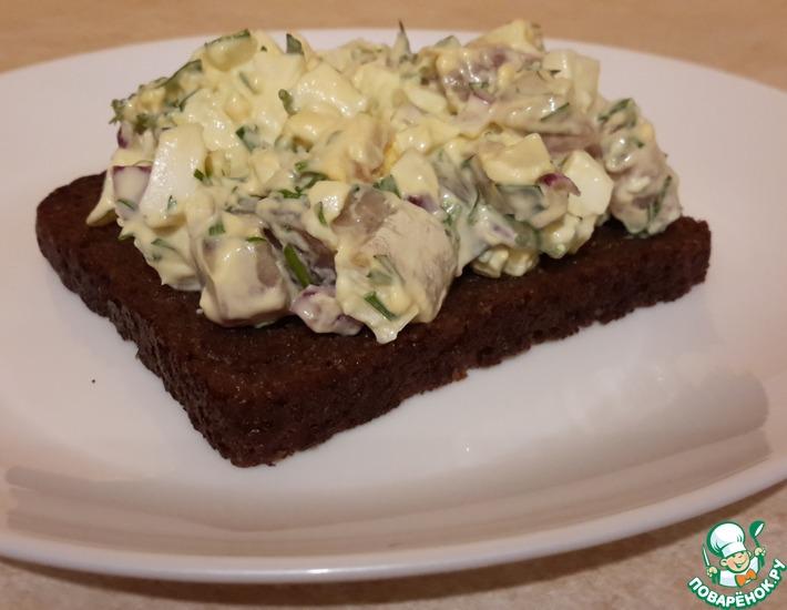 Рецепт: Шведский салат с солёной сельдью Губбрёра