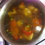 Суп курино-грибной