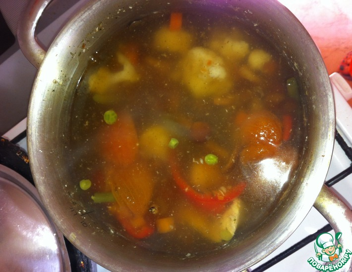 Рецепт: Суп курино-грибной