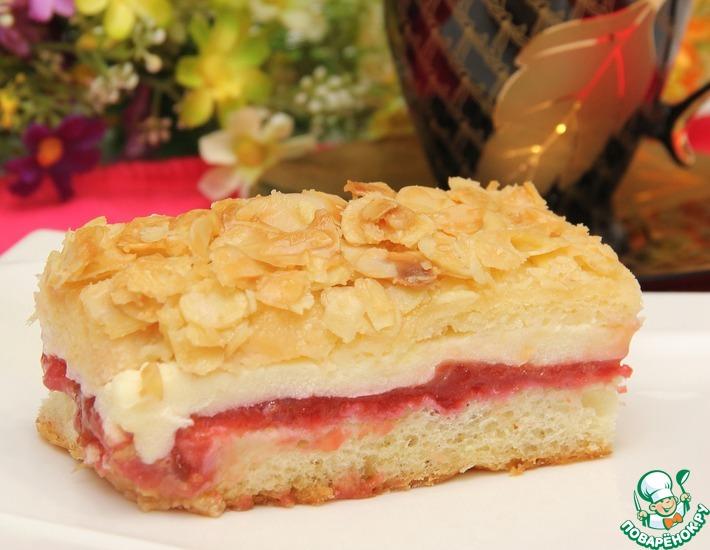 Рецепт: Пирог кремово-сливовый под хрустящей корочкой
